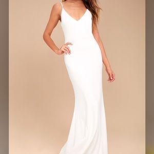 Lulu's White Maxi Dress - Small